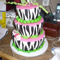 Zebra 18Th Birthday All fondant decor