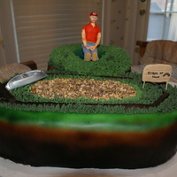 First Airbrushed Cake My son spent his summer at a place where he could canoe and swim. The center area with the granola gravel is the circular driveway where he...