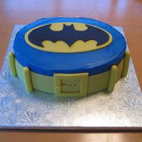 Batman Birthday Cake Made this cake for a friend's son's 3rd birthday party. Utility belt and symbol made of fondant.
