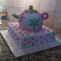 Teapot Teapot cake for a 7 yr. old 'Tea Party' birthday. Two round cakes for the body, gum paste and fondant for the handle spout and...