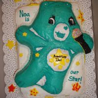 American Idol Carebear Cake Friend's daughter wanted an American Idol CareBear cake for her birthday. This was my attempt at her 6yr.old vision
