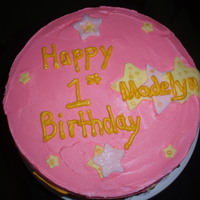 Twinkle Little Star Made this cake for a friend's daughter's 1st birthday. I wrote the lyrics around the cake in different styles.