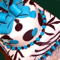 Pretty In Blue BUTTERCREAM FROSTING WITH FONDANT DECORATIONS