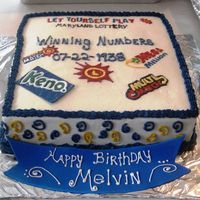 Loves To Play The Lottery This cake was for a 70 yr old's birthday. He loves to play the daily maryland lottery!