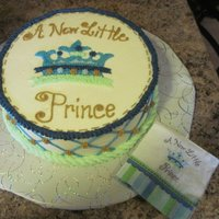 New Little Prince   Customer wanted cake to match the napkins.