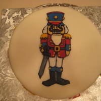 Nutcracker Ballet Cake MMF; gumpaste decorations....