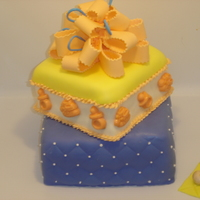 Baby Cake All accents are MMF, white cake with vanilla bc filling. TFL