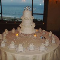 Natalie's Wedding   Wedding Cake with 20 mini cakes for the wedding party!
