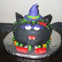 Witchy Bat Cake all decorations are MMF, made this for my daughters school party