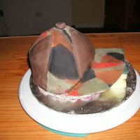 Huntin' Hat This is my first hat cake. I made this cake my Husbands birthday. It is red velvet cake with homemade marshmallow fondant. The bill of the...