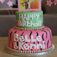 Justin Bieber Birthday Cake This was for two cousins who are big fans of Justin Bieber. I copied the design from a photo of a cake they found online. Everything is...