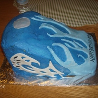 Motorcycle Gas Tank Cake This is a Motorcycle gas tank cake. Used fondant for the flames and designs the rest is buttercreme. Everyone loved it even though I saw...