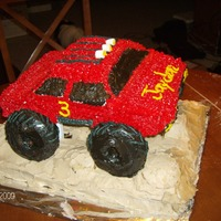 Monster Truck This is a monster truck cake I made for a 3 yr old. It turned out pretty good.