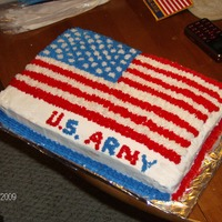 Military This is a going away cake I made for my nephew who is going into the army. The cake turned out great except for the writing part. I'm...