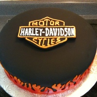 Harley Davidson Cake 50Th Year