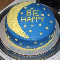 Be Happy This is the first cake I made for my Wilton class. No one I knew was celebrating anything, so I went with a generic message.