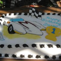 Speed Racer Birthday Cake For my son's first birthday