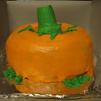 Pumpkin Cake Walnut Raisen brown sugar cakes with buttercream frosting. made it for our church picnic
