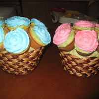 Baby Shower Cupcake Bouquet My first Cupcake Bouquet..Is it a boy or girl?