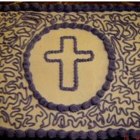 Purple Cross I did this cake for a funeral.
