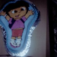 Dora1 My first attempt of making a character cake. I actually made two. This was made for my daughter's 3rd birthday party.