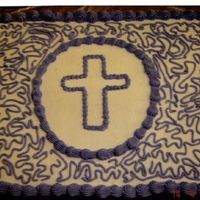 Purple Cross This cake was made for a funeral.