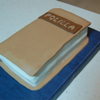 Book Cake It was my first try to make a book cake :) Chocolate cake covered with fondant.
