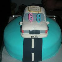 Birthday Car Cake This was my first try to make a car cake. I made that car as the topper of the main cake. I know I have to work harder :)