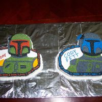 Star Wars - Bobba And Jengo Fett I made this cake for my nephew Cody's 8th Birthday party.