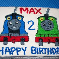 Thomas The Train And His Friend Percy I made this cake for my nephew's 2nd birthday.