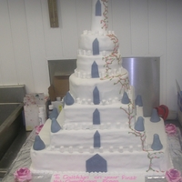 Fairytale Castle Cake 48 Inches High Large castle cake for a big party
