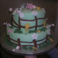 Farm Animals Farm Animal cake for a childrens birthday party