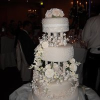 Irish Wedding With Sugar Flowers 4 tier traditional Irish whiskey fruit cake with almond icing and sugarpaste.