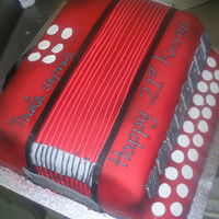 Accordion Cake ACCORDION CAKE FOR IRISH MUSIC FAN