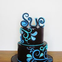 Paisley Swirl Cake Haven't posted a pic on here for a while, so thought I would.. :) This is two tiers of chocolate cherry ripe mud cake, layered and...