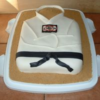 Tae Kwon Do Cake I made this cake for our end of season barbeque. It is a pound cake with lemon filling, buttercream under and fondant icing. I hand painted...