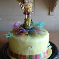 Fairy Cake 10', 3 layer pound cake with lemon curd filling and Indydebi's icing. MMF covering and purchased decorations. The first time I...