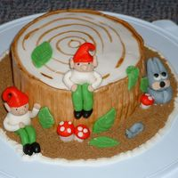 Woodland Elves I saw this cake in a book and decided to make it for a friend of mine for her homecoming party. She'd been away for the summer as a...