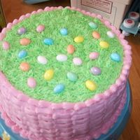 Top Of Easter Basket Cake