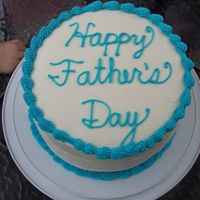 Father's Day Cake   3 layer devil's food cake mix with extender / all butter buttercream frosting