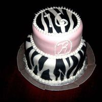 Sweet Sixteen Baby Pink and Zebra Stripes
