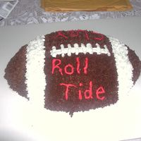 Football Cake this is a roll tide cake for birthday.