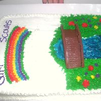 Girl Scout Bridging Ceremony Cake i made this for my daughter's bridging ceremony at girlscouts.