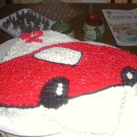 Car Cake this is the nascar pan just updated.