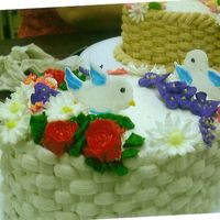 Bird Cake class cake birds and flowers