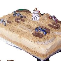 Dirtbike Cake Thank you to Melia ( cakecentral user) my son saw her cake and wanted one just like it! Thank you for posting your picture Melia!