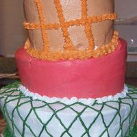 First Topsy Turvy This is my first attempt at this type of cake its supposed to be a basketball going into a rim and the net. I have no clue what I did wrong...