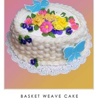 Basketweave Cake Wilton course 2 basketweave cake. Chocolate with strawberry filling. I loved doing the color flow!