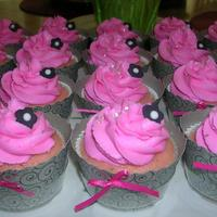 Flower Graduation Cupcakes Literally just made these for my friend's college graduation party today. They are pink champagne cupcakes with buttercream frosting,...