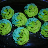 Just Because Cupcakes  i can never get enough of baking! made for my boyfriend joe and his cousin. these are chocolate cupcakes with vanilla bean buttercream. i...